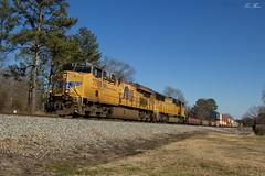 NS 25Q at Seney (travisnewman100) Tags: norfolk southern train railroad freight intermodal union pacific c45accte sd70m emd ge atlanta north division georgia seney 25q