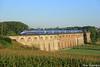 Pendant que le maïs pousse (Lion de Belfort) Tags: chemin de fer tgv euroduplex duplex 4700 4705 viaduc ballersdorf gommersdorf sncf ligne 4 l4 champ maïs campagne