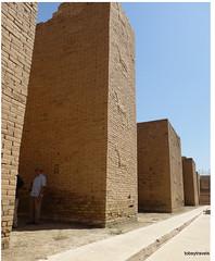 Western Wall lower Ishtar Gate, Babylon (13).jpg (tobeytravels) Tags: iraq babylon babel mesopotamia akkadian amorite hammurabi assyrian neobabylonian hanginggardens achaemenid seleucid parthian roman sassanid alexanderthegreat nebuchadnezzar sargon chaldean hittites sennacherib xerxes