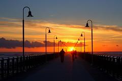 The pier at sunset (annalisabianchetti) Tags: sunset tramonto pier pontile tuscany light walking