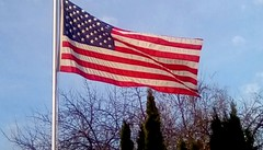 President's day 2018.365/110 (Maenette1) Tags: presidentsday americanflag trees sky menominee uppermichigan flicker365 michiganfavorites project365