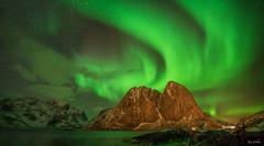 Painter of the skies (xanwhite305) Tags: auroraborealis mtfesthelltinden lofotenislands norway outdoors winter night sky