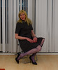Happiness. (sabine57) Tags: crossdressing transvestism crossdress crossdresser cd tgirl tranny transgender transvestite tv travestie drag pumps highheels pantyhose tights patternedpantyhose patternedtights dress
