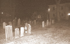 WHO ya gonna call? (bike-R) Tags: cementary orbs paranormal headstones church