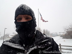 January 21, 2018 - ThortonWeather.com chief weather geek after clearing the snow. (ThorntonWeather.com)