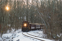 NH&I 8218 @ New Hope, PA (Dan A. Davis) Tags: newhopeivyland newhopeandivylandrailroad nhi gp9u northpoleexpress passengertrain train locomotive newhope lahaska pa pennsylvania buckscounty