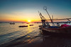 Fishing boat at sunset, Thailand (Patrick Foto ;)) Tags: background beautiful beauty blue boat business clouds coast color colorful coral day dusk evening exposure fish fishing landscape light long marine nature night ocean orange people red reflection school sea ship shutter silhouette sky speed sport spring summer sun sunrise sunset trees tropical vessel water web white yellow tambonbangphra changwatchonburi thailand th