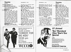 New Year's Eve 1970 (STUDIOZ7) Tags: tv television wcco cbs channel4 twincities minneapolis stpaul minnesota mn 1970s 70s seventies tvguide laurel hardy december31 1970