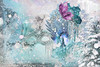 Does Winter Wonder? (margotd2) Tags: magicalreality snow winter aqua blue white model woman tree mask outdoors butterfly foliage frozen icicles fairy
