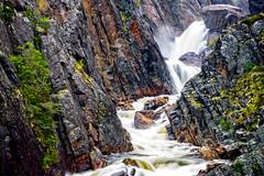 Brador Falls (Brett of Binnshire) Tags: weather rain water falls waterfall river locationrecorded scenic mountains valley canada cliff quebec brador mountain stream