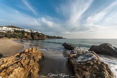 Ain Achir beach (Bilel Tayar) Tags: beach sea seascape rock sand water landscape sky clouds morning shot azurre mar mare deniz algeria algerie annaba est littoral rivage wide wideangle mer mediteranée mediteranean bileltayar sigma 1020 sigma1020 nikon nikond5200