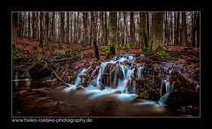 Ein Moment im Wald / a moment in the forest (H. Roebke (offline for a while)) Tags: 2018 canon1635mmf28lisiii de canon5dmkiv graufilter landschaft nature germany rural fall natur baum tree wasserfall forest nd1000 waterfall wald lightroom winterlandscape
