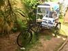 Cycle rikshaw at Café des Arts in Pondicherry (Tjeerd) Tags: ruesuffren 10suffrenstreet tartines lunch breakfast croissant baguette coffee rikshaw puducherry pondy crêperie villeblanche whitetown tondainadu india pondichéry pondicherry cafédesarts cyclerickshaw