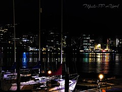 347. HARBOURSIDE: Night Lights & Reflections (Meili-PP Hua 2) Tags: sea marine coastal seashore seaside ocean water clouds sunset landscape mlpphlandscape pier jetty quay port harbour waterfront dark nightphotography night darkness silhouettes shadows skyline city buildings nightskyline boat building boats photographypassionsxyz