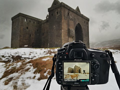 Hermitage fun (PentlandPirate of the North) Tags: hermitage castle scotland borders giant ogre haunted nikon d610 snow rain