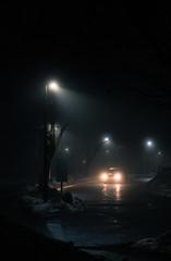 Fogy Night in London (a.jejomin) Tags: fog fogy day london ontario sony a7riii a7r3 a7rmk3 mk3 a7r car night dark street