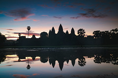 Angkor Wat at dusk, Siem Reap Cambodia (Patrick Foto ;)) Tags: ancient angkor architecture asia asian buddha buddhism buddhist building cambodia cambodian culture heritage hindu hinduism historic indochina khmer lake landmark monument morning old reap reflection religion religious rock ruin siem silhouette site sky stone sun sunrise sunset temple tomb tourism tower travel tree tropical unesco wat water world worship krongsiemreap siemreapprovince kh