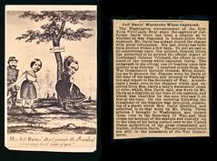 The Capture of Jefferson Davis (Piedmont Fossil) Tags: antiquephoto cdv cartedevisite civilwar novelty political satire cartoon jeffersondavis capture