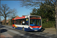 37065, HIllmorton Road (Jason 87030) Tags: 37064 adl enviro d2 daventry rugby warwickshire midlands stagecoach tree branch naked trunk shadow shade cold weather uk england 2018 feb february 37065 yy63yrm dav northants roadside shot shoot light ilce