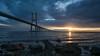 Puente Vasco da Gama (Bastian.K) Tags: portugal lisboa lisbon lissabon bridge brücke schrägkabel stay cable vasco da gama puente pte zeiss loxia2128 loxia2821 loxia 21mm 28 nisi filter filters polarizer sunrise sunset sonnenaufgang sonnenuntergang