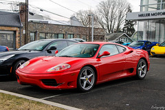 2000 Ferrari 360 Modena (Rivitography) Tags: af68211 connecticut exotic car supercar expensive luxury rare vehicle greenwich 2018 canon rebel t3 adobe lightroom rivitography ferrari 360modena 2000 red italian