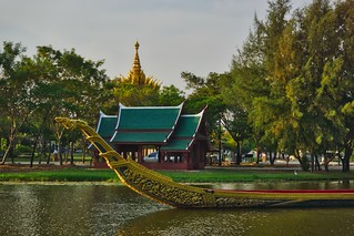 Replica of a Royal Barge at Muang Boran, Samut Phrakan, Thailand