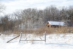 Snowscape (david.horst.7) Tags: snow rural farm barn fence winter decay weathered