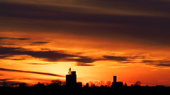 Rural Central Illinois Winter Sunset (mjhedge) Tags: illinois rural silhouette sunset clouds grainelevator elevator olympus oly olympusm40150f28 em1mkiiomdem1markii omdem1mkii omd mc14