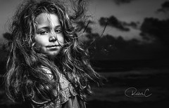 MY DAUGHTER KAYA (RADEK C) Tags: face tamron people photography natural child love daughter bw blackwhite family kids girl model monochrome nikonflickraward nikon outdoor ocean night nightphotography d850 removedfromstrobistpool nostrobistinfo seerule2