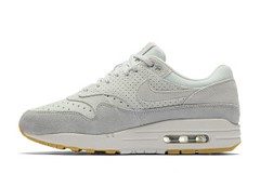 "Nike WMNS Air Max 1 Premium ""Barley Grey"" in Perf Suede (eukicks.com) Tags: nike kicks air max 1 premium sneaker preview womens sneakers"