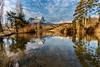 Matin D' Hiver  (winter morning) - Savoie (2018) (gerardcarron) Tags: arbres calme canon80d ciel cloud eau hiver lac lake lesmarches montagne matin morning nature nuages paysage snow water winter