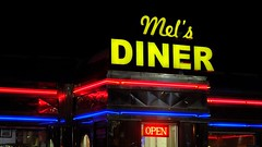 Mel's Diner (Tim @ Photovisions) Tags: mels diner chrome neon food sign