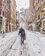 Beacon Hill Snowstorm ((Jessica)) Tags: street commute suitcase walking man winter snowstorm snow newengland massachusetts boston beaconhill