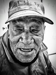 Portrait, An Old Friend. (leopc.lin) Tags: bw iphone portrait friend 500