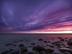 Perfect view (Jarno Nurminen) Tags: olympus nisi finland porvoo emäsalo rocks sunset longexposure sea clouds