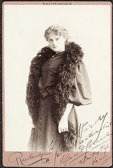 Maud Gonne (gone but now returned) (National Library of Ireland on The Commons) Tags: irishpoliticalfiguresphotographiccollection nationallibraryofireland politicalfigures ireland paris maudgonne maudgonnemcbride edmundharvey feather boa featherboa reutlinger reutlingerphotographicstudio gone returned 1890s france déjàvu
