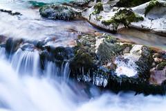 Water & Ice (Rae-J09) Tags: dof depthoffield canon 7d 1635mm stream rocks brook river cascade longexposure moss slovenia vintgargorge winter
