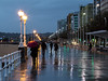 Paseo de San Lorenzo bajo la lluvia. (David A.L.) Tags: asturias asturies gijón paseodelmuro sanlorenzo lluvia