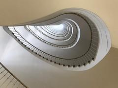 dizzy (Berliner1963) Tags: nieren banister handrail geländer hochhaus stahlskelettbauweise schwindelig dizzy architecture architektur paulschwebes alfredgunzenhauser stairwell stairway treppenhaus 1950er allianzhaus joachimsthalerstrase charlottenburg berlin germany deutschland