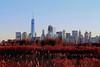 Meadows Skyline, NYC (BFru) Tags: nyc skyline landscape architecture wtc worldtradecenter new york city meadowlands skyscrapers tall grass swamp blue ski lower manhattan america usa