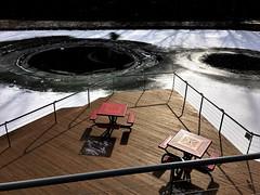 Park School deck (karma (Karen)) Tags: parkschool pikesville maryland ponds decks picnictables benches fences shadows hbm iphone