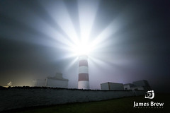 Hope (www.jamesbrew.com) (James Brew (www.jamesbrew.com)) Tags: isleofman landscapephotography jamesbrew nature nightsky lighthouse manx fog mist lightbeams longexposure britain uk