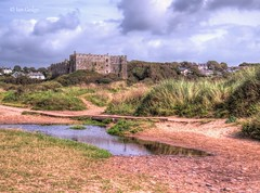 Photo of Manorbier Castle from the beach