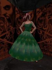 Summer Dress - Galaxy - Green_001 (hmkagm) Tags: maitreya with flexy skirt silver dragon summer flowers pleated