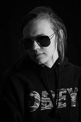 Gunster 2018 (Kenneth John Taylor) Tags: people low key blackandwhite hoodie sunglasses shades obey skate skatewear skateboard monochrome nikon shadow light dark speedlight d750 105mm nikkor