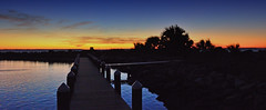 INTO THE SUNSET (Wolf Creek Carl) Tags: sunsets red blue water ocean portstjo florida outdoors nature orange