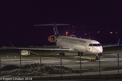 EI-FPN SAS Scandinavian Airlines Canadair CL-600-2D24 Regional Jet CRJ-900LR (Otertryne2010) Tags: 2018 2k18 enva norge norway sas trd trondheim værnes scandinavian cityjet canadair cl6002d24 airlines regional jet crj900lr parked