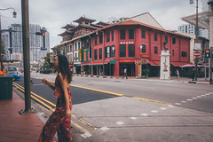 Out we go! Hi lady! (]vincent[) Tags: singapore malaysia asia east vincent sony rx 100 mk iv 4 self portrait street photography china town people colorful food