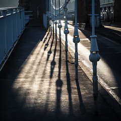 Menai Shadows (real ramona) Tags: bangor wales bridge shadows sunlight roadway