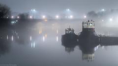 Richmond Upon Thames (Colin_Evans) Tags: fog mist night richmond river thames bridge water